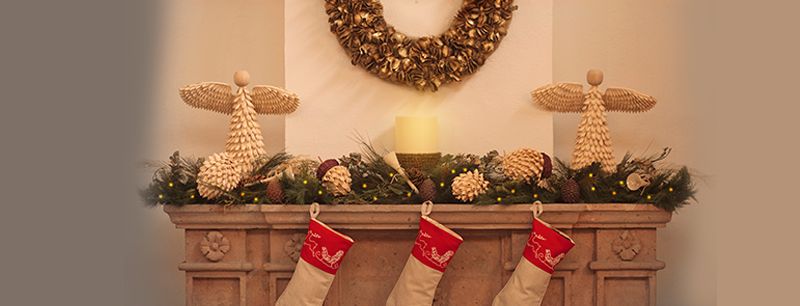 texturas  para decorar tu casa en Navidad